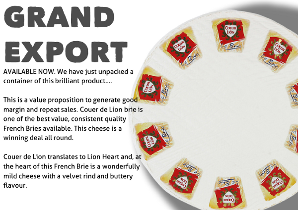 Grand export brie