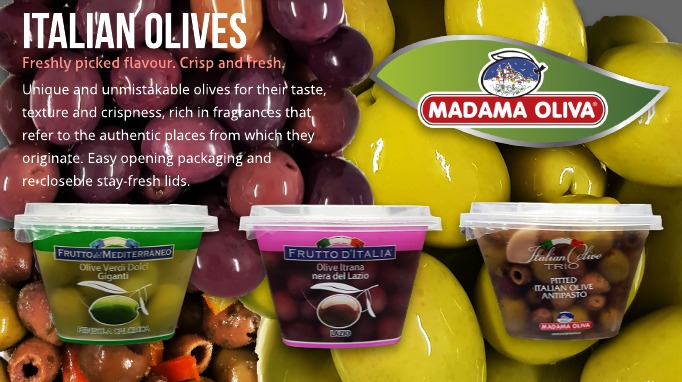 Madama Oliva fresh Italian Olives