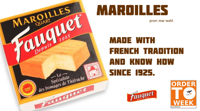 Maroilles washed rind cheese by Fauquet