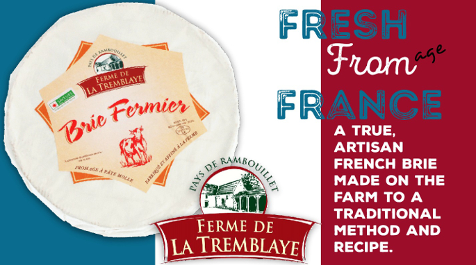 Farmhouse Brie from France by Ferme de la Tremblaye