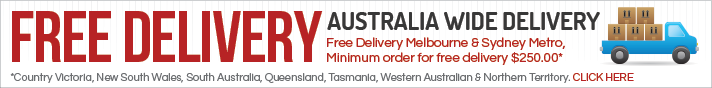 Free Delivery to Melbourne and Sydney Metro