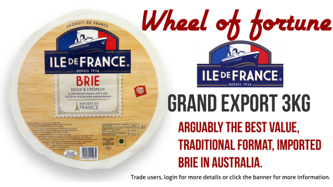 The Grand Export Brie by Ile de France - Now available through Kirkfood